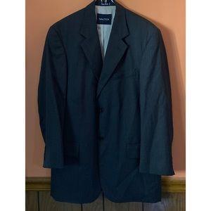 Cashmere And Wool Blend Pinstripe Blazer